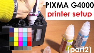 PIXMA G4410 G4400 G4510 G4500 (part2) - Printer Setup