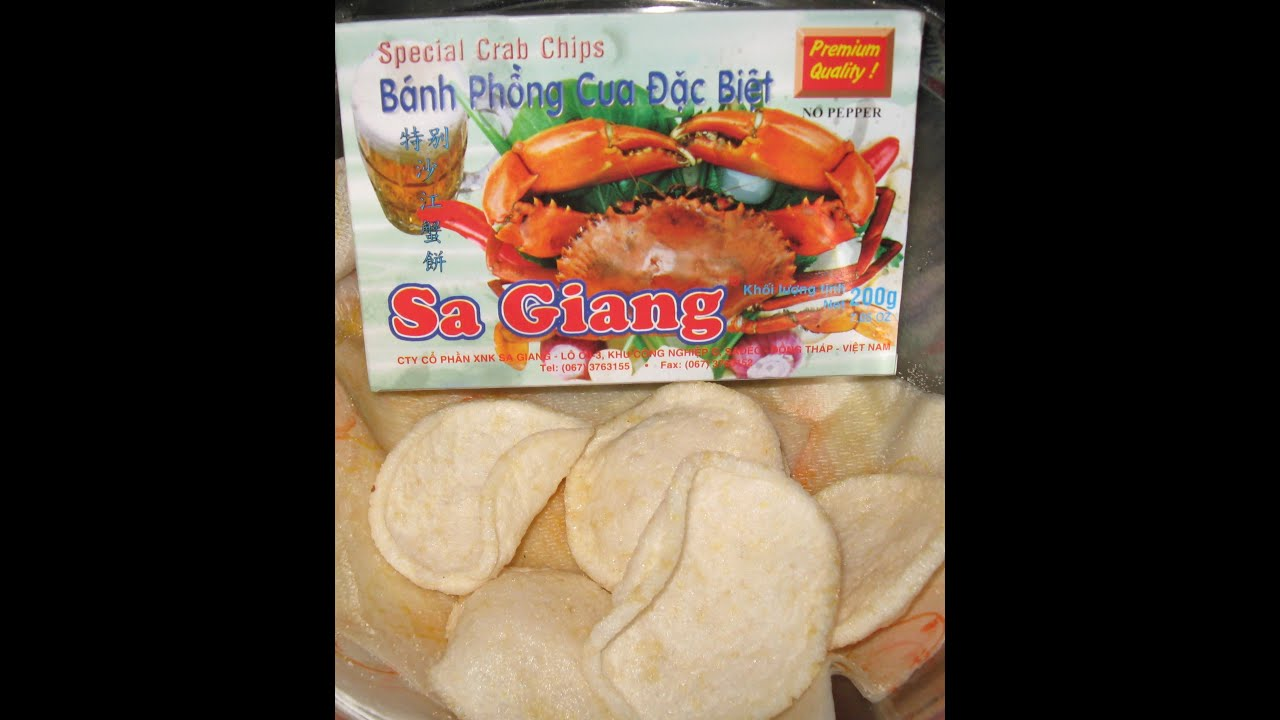 how I make Bánh phồng cua đặc biệt – Sa Giang – CRAB CHIPS – great for soup and SNACKING, munchies