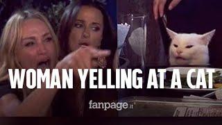 Woman Yelling at a Cat: la storia del meme virale della donna che urla al gatto a tavola