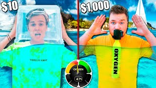 $10 Vs $1,000 LAST TO BREATH WINS! *BUDGET CHALLENGE*