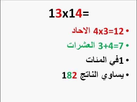 عبقري الرياضيات اسهل طريقة لحفظ جدول ضرب الارقام ما بين 11 و 19 Youtube