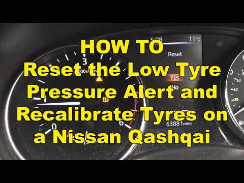 How to reset tire pressure sensor 2020 nissan rogue