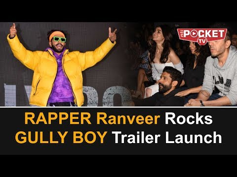RANVEER SINGH RAPS at GULLY BOY trailer launch | Asli Hip Hop | Alia Bhatt