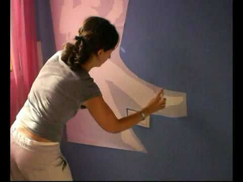 Relooking de interiores instrucciones para colocar vinilo en pared youtube - Pegar vinilo en pared ...