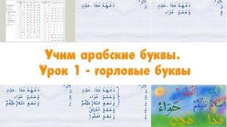 Учим арабские буквы 1 урок: горловые буквы. Для детей и взрослых