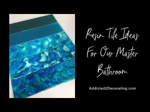 DIY Resin And Alcohol Ink Wall Tiles