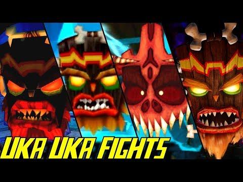 Evolution of Uka Uka Battles in Crash Bandicoot Games (1996-2017)