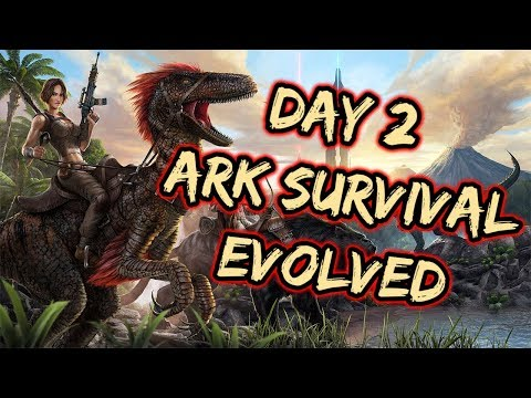 Day 2 in ARK SURVIVAL EVOLVED!! Learning the game Looking for Help | 1440p PC LIFE | Like and Sub!!!