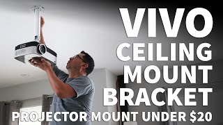 Vivo Projector Mount Installation – Ceiling Mount with Extension Arm for Video Projectors – VP01 VP0