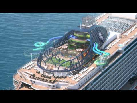 MSC Seaside - South Beach Pool and Forest Aquaventure on board.