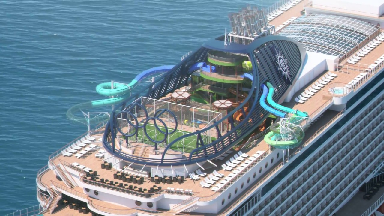 MSC Seaside - South Beach Pool and Forest Aquaventure on board