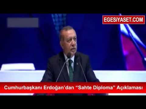 Cumhurbaşkanı Erdoğan'dan 'Sahte Diploma' Açıklaması