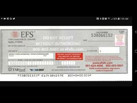 How to fill out a EFS check and pay lumpers
