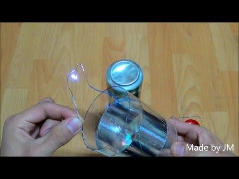 Plastic bottle capacitor (Leyden jar Experiment)