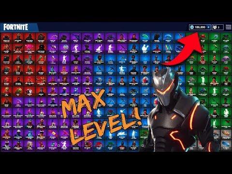 $1000 Fortnite Locker Showcase! Max Omega & Max Carbide! (Fortnite Rarest Skins + EMOTES)
