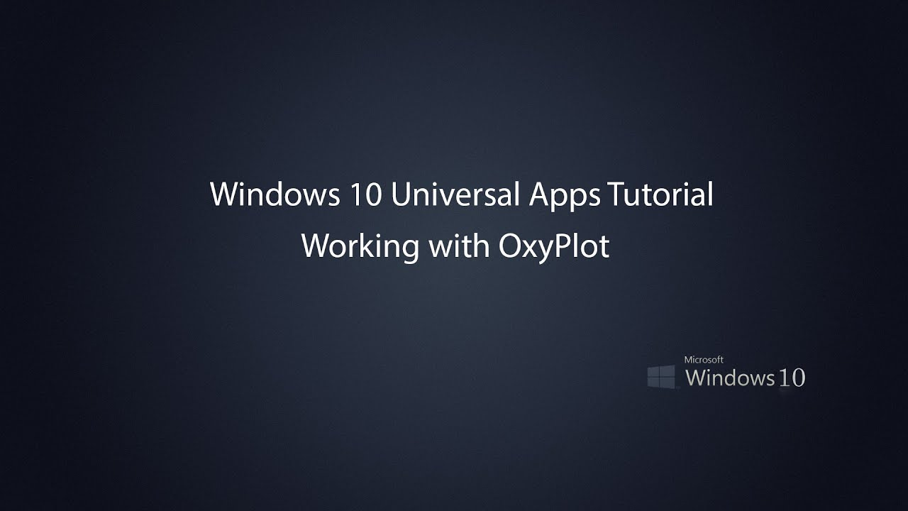 Windows 10 Universal Apps - Graph drawing with OxyPlot