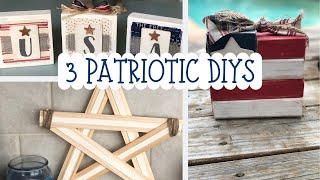 3 PATRIOTIC DIYS  |  DOLLAR TREE DIY  |  AMERICANA DECOR