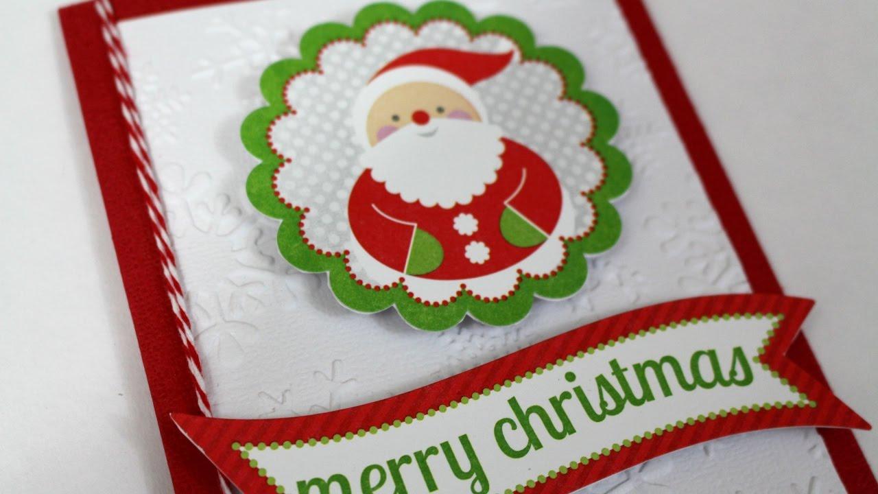 Como hacer tarjetas navide as super faciles scraptools youtube - Como hacer manualidades faciles ...