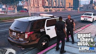 gta 5 pc mods   lspdfr   police simulator   ep 19  no commentary  city patrol