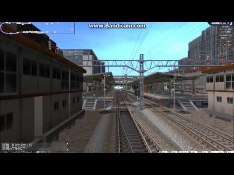 鉄道模型シミュレーター 電車庫→寝台客車連結してレイアウトを一周