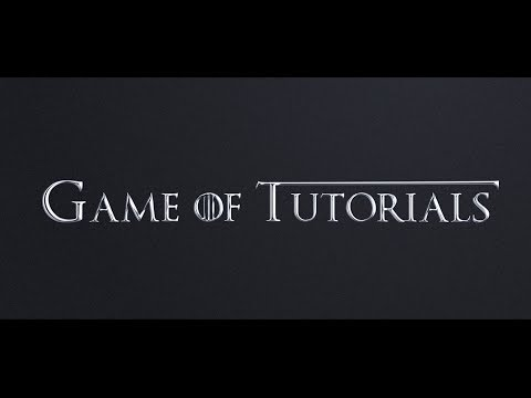 After Effects Tutorial: Game Of Thrones Style Text Animation In After Effects thumbnail