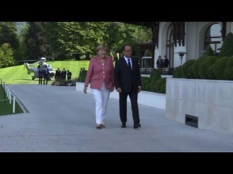 Rencontre Hollande-Merkel à Evian avant le sommet post-Brexit