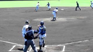 中谷:左越え二塁打、宏政:三ゴロ、甲斐:捕邪飛、広大:左飛.