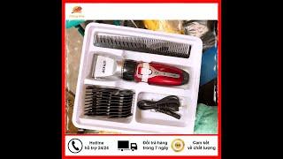 Bộ dụng cụ Tăng đơ cắt tóc nam JiChen 0817 bộ dụng cụ đầy đủ - Tông đơ cắt tóc người lớn trẻ em mini