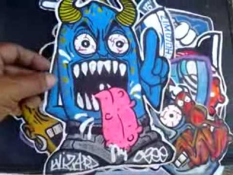 graffiti stickers - cool characters - YouTube