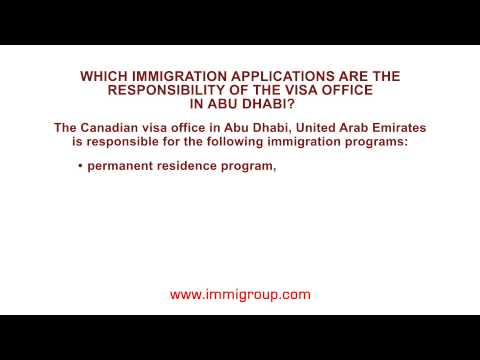 Which Immigration Applications Are The Responsibility Of The Visa Office In Abu Dhabi?