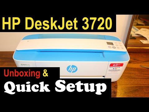 HP Deskjet 3720 SetUp, Quick Unboxing & review🖨.