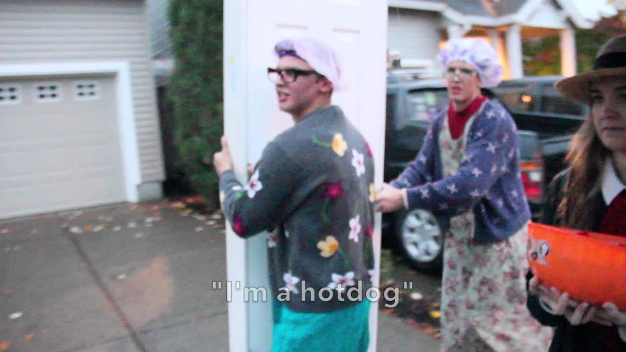reverse trick or treating with door 2015 trent toney youtube - Trick R Treat Halloween Costume