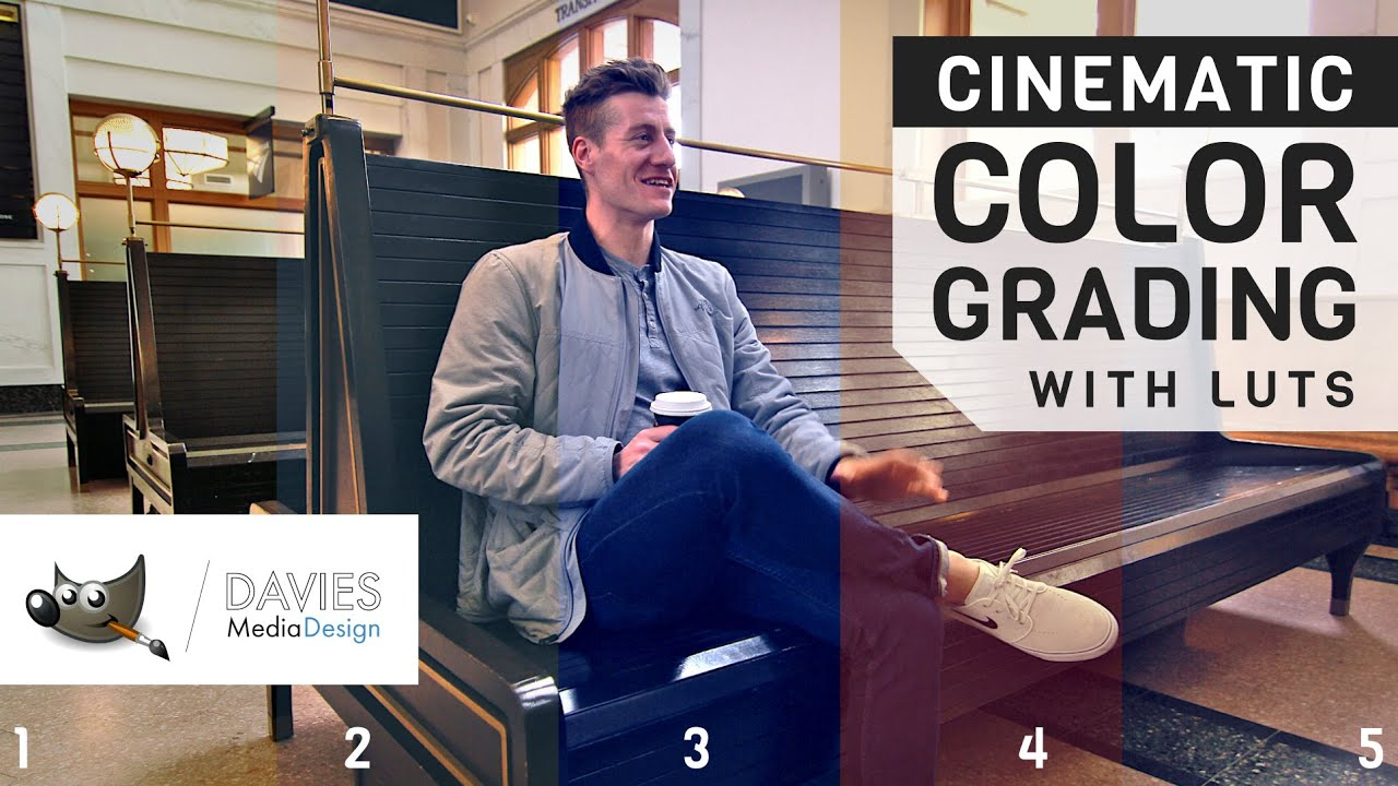 Create Cinematic Color Grading with LUTS Using GIMP   Davies