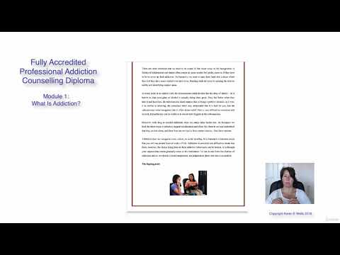 Fully Accredited Professional Addiction Counselling Diploma