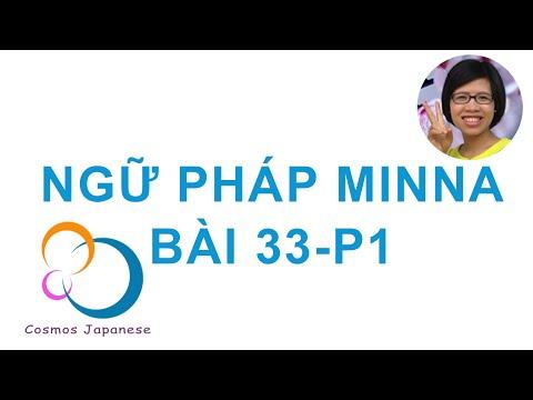 Học ngữ pháp Tiếng Nhật Minna - Bài 33-P1