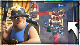 FAST CYCLE MINER BANDIT CONTROL DECK!! Updated Miner Control - Arena 9 to 11 Clash Royale Strategy