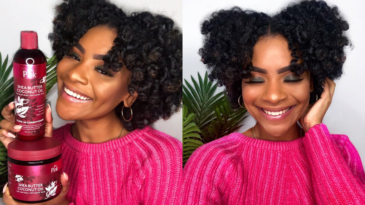 FLAT TWIST & CURL ft. LUSTER'S PINK SHEA BUTTER COCONUT OIL COLLECTION