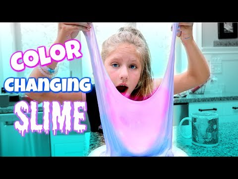 DIY COLOR CHANGING SLIME! Testing Popular No Borax Slime DIY Recipe Slimes