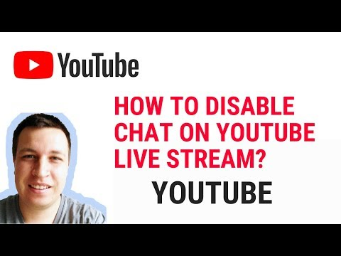 HOW TO DISABLE CHAT ON YOUTUBE LIVE STREAM?
