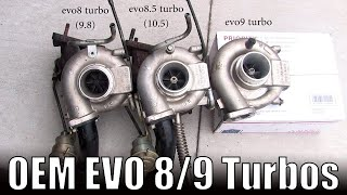evo 8 vs evo 9 turbo differences // 9.8T vs 10.5T