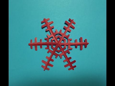 (simple)How to make Snowflakes(Paper cutting)剪紙雪花
