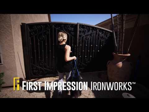 Beautiful Wrought Iron Gates and Railing