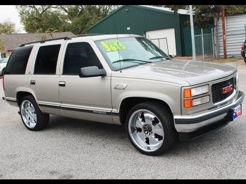 1999 GMC Yukon - Custom SUV For Cheap, Chrome Rims ...