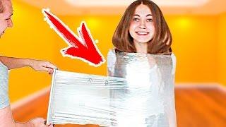 100 МЕТРОВ ПИЩЕВОЙ ПЛЕНКИ! ЧЕЛЛЕНДЖ! 100 layers plastic wrap CHALLENGE !!!
