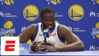 [FULL] Draymond Green: 'None of us are ready for this run to come to an end' | NBA Media Day | ESPN
