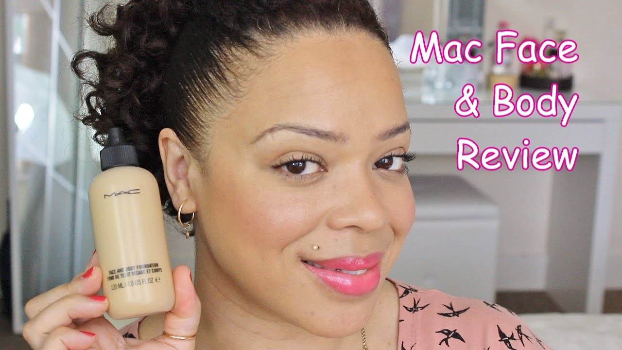 mac face body foundation review and demo youtube