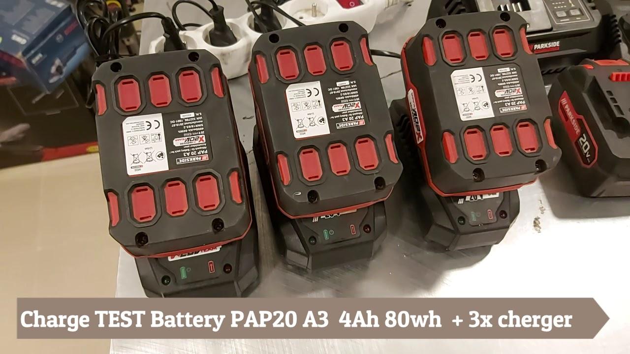PARKSIDE® Batterie 20 V avec chargeur X20V TEAM NEUF