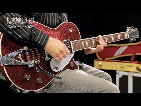Gretsch Guitars Custom Shop Duo Jet '56 Electric Guitar, Burgundy Sparkle