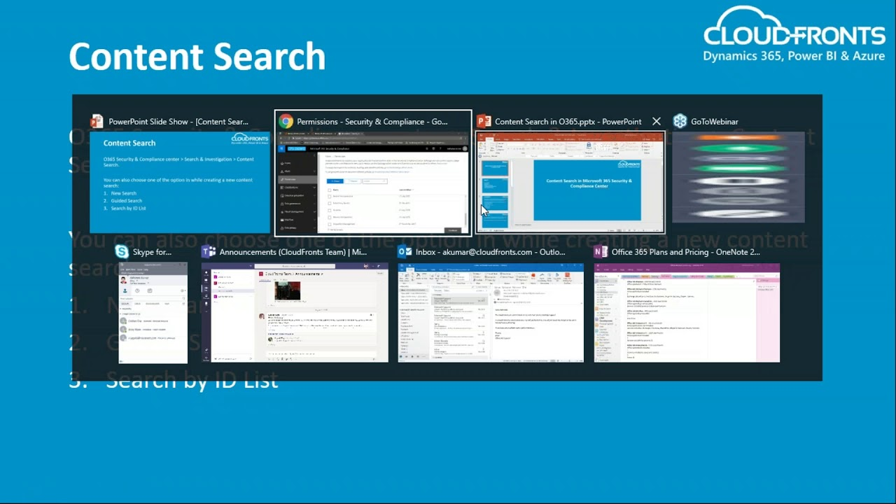 Content Search in Office 365 Security & Compliance Center