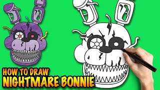 how to draw nightmare bonnie fnaf easy step by step drawing